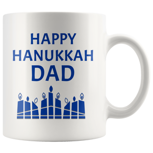 happy hanukkah dad mug