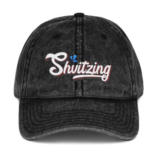 Shvitzing Vintage Style Embroidered Cotton Cap
