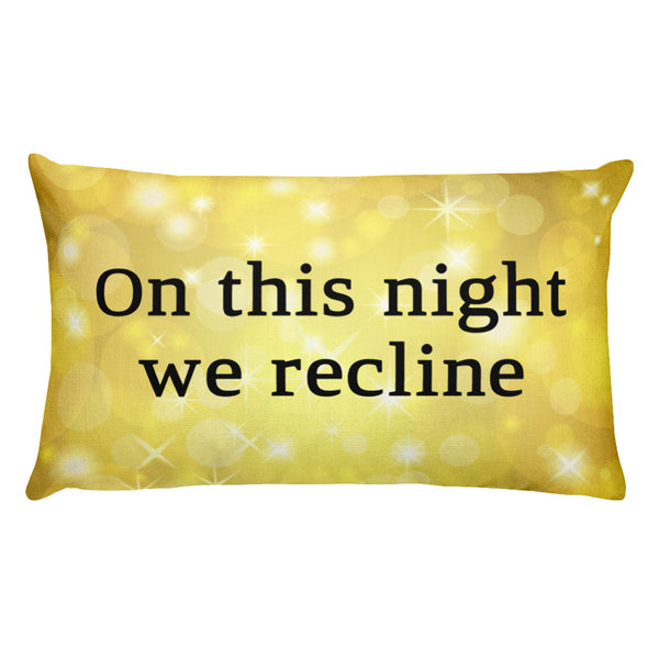 passover reclining pillow