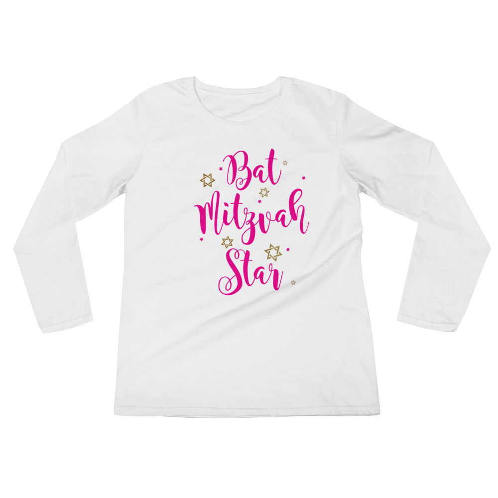 Bat Mitzvah Star Long Sleeve Shirt