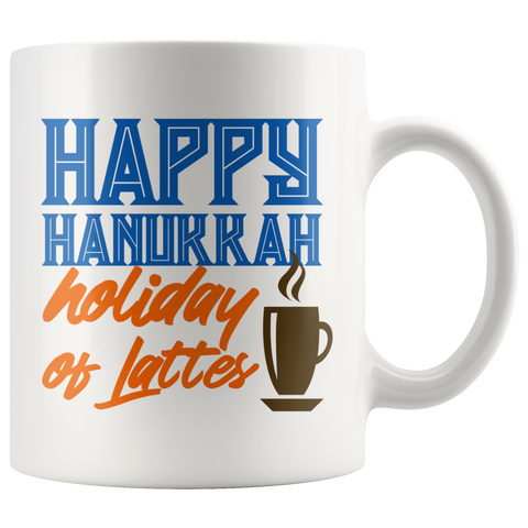 happy hanukkah gift mug