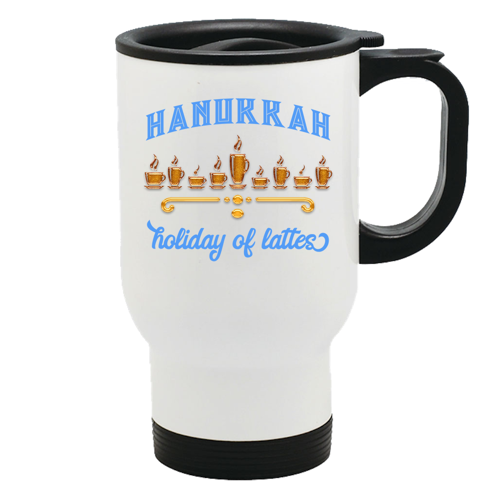 hanukkah gift travel thermal mug
