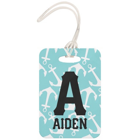 personalized nautiacal luggage tag