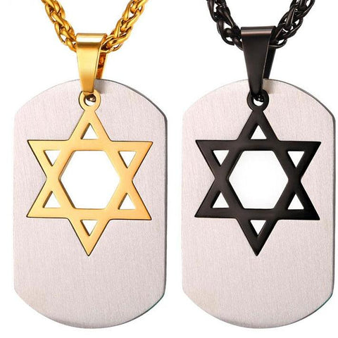 star of david necklace tag