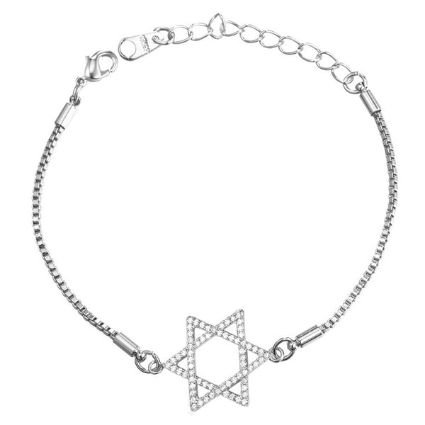 Star of David Magen David Rhinestone Bracelet