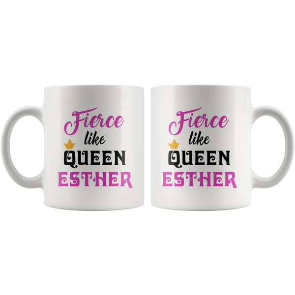 Fierce Like Queen Esther Purim Gift Mug