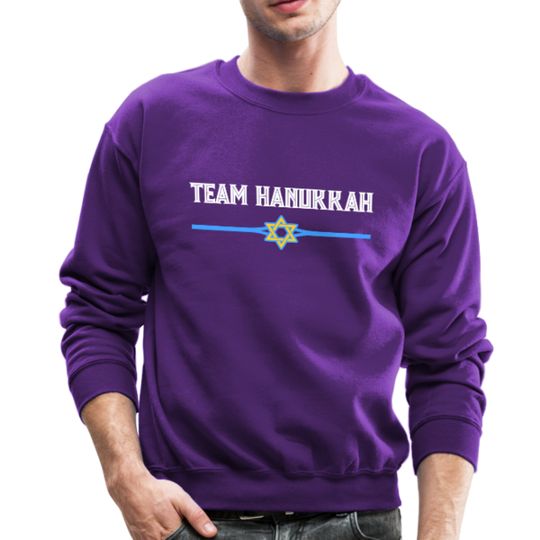 Team Hanukkah - Chanukah Crewneck Sweatshirt - purple