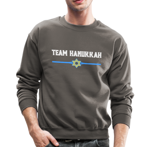 Team Hanukkah - Chanukah Crewneck Sweatshirt - asphalt gray