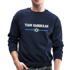 Team Hanukkah - Chanukah Crewneck Sweatshirt - navy