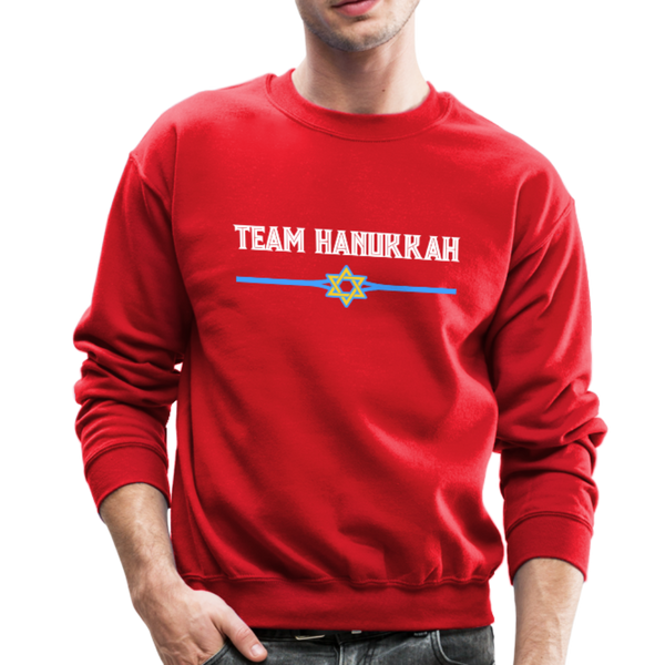 Team Hanukkah - Chanukah Crewneck Sweatshirt - red