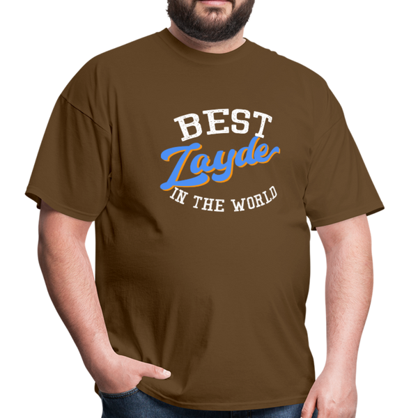 Best Zayde In The World T-shirt - brown