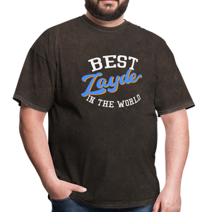 Best Zayde In The World T-shirt - mineral black