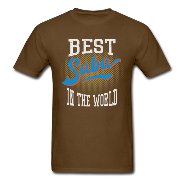 Best Saba in The World Jewish Grandfather T-shirt - brown