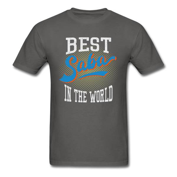 Best Saba in The World Jewish Grandfather T-shirt - charcoal