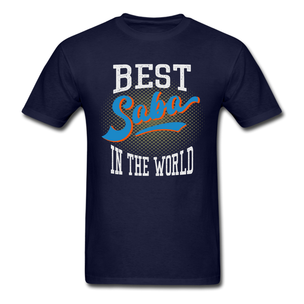Best Saba in The World Jewish Grandfather T-shirt - navy