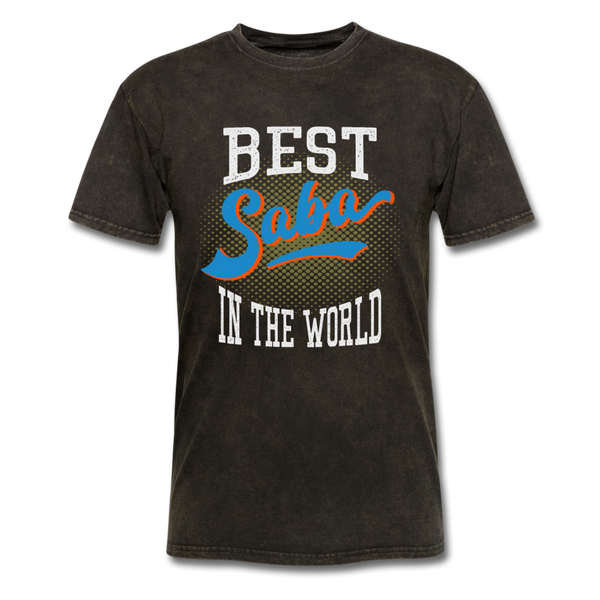 Best Saba in The World Jewish Grandfather T-shirt - mineral black
