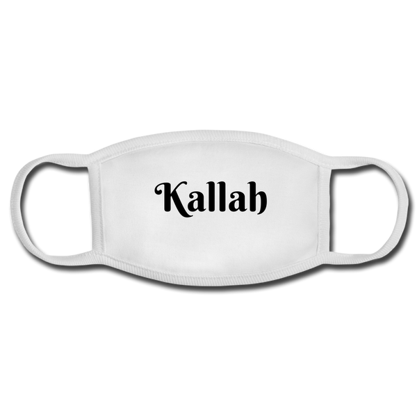 Kallah Face Mask for a Jewish Wedding - white/white