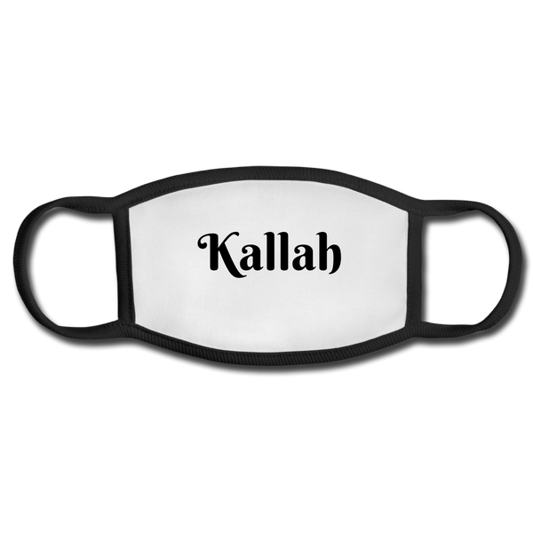 Kallah Face Mask for a Jewish Wedding - white/black