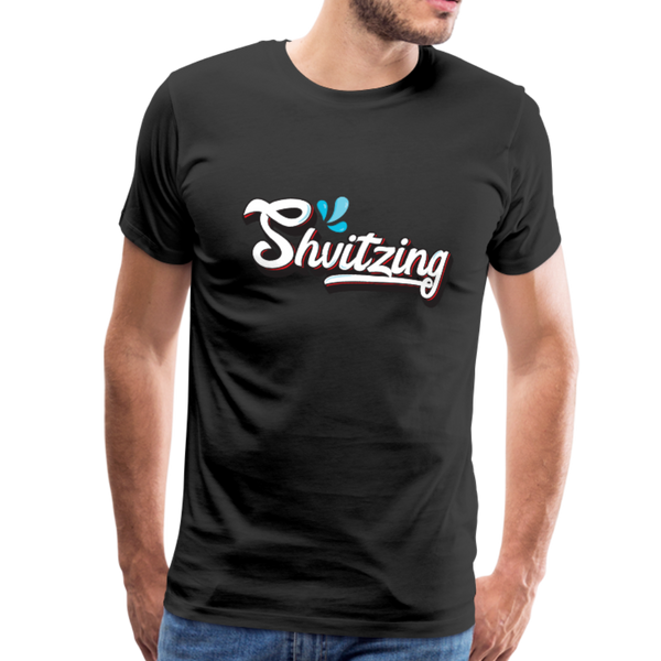 Shvitzing Funny Yiddish Premium T-shirt - black