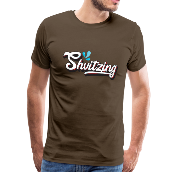 Shvitzing Funny Yiddish Premium T-shirt - noble brown