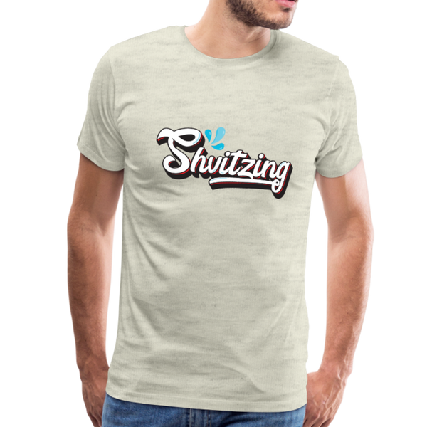 Shvitzing Funny Yiddish Premium T-shirt - heather oatmeal