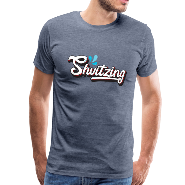 Shvitzing Funny Yiddish Premium T-shirt - heather blue