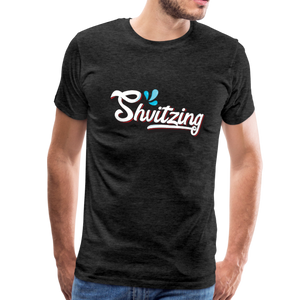 Shvitzing Funny Yiddish Premium T-shirt - charcoal gray