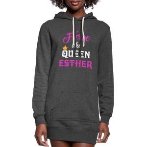 Fierce Like Queen Esther Women's Hoodie Dress - heather black