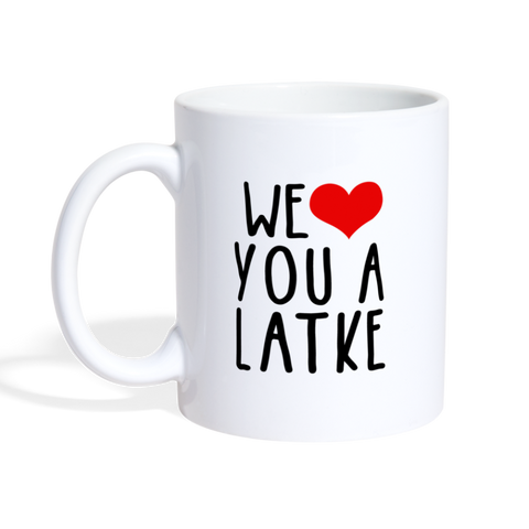 We Heart You A Latke Coffee/Tea Mug - white