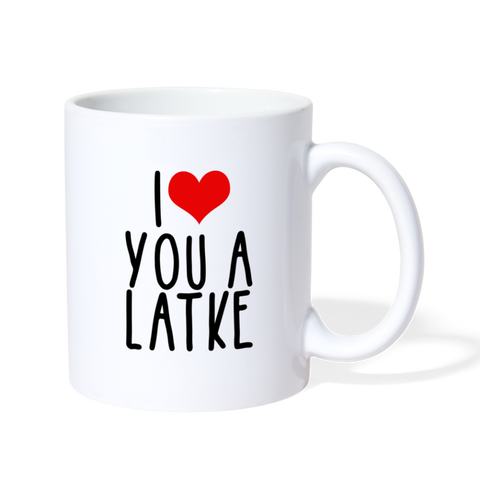 I Heart You a Latke Coffee/Tea Mug - white