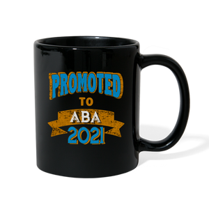 Promoted To Aba 2021 New Jewish Dad Gift Mug - black