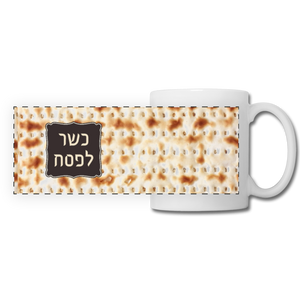 כשר לפסח Hebrew Print mug - white