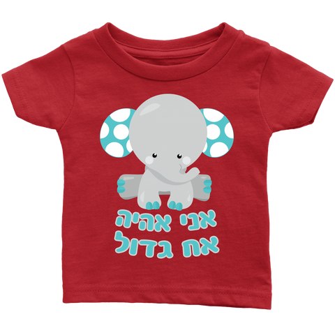 Big Brother Baby Announcement T-Shirt - Hebrew
