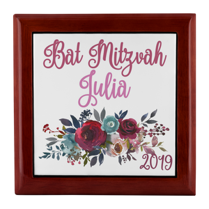 Bat Mitzvah Personalized Keepsake Box