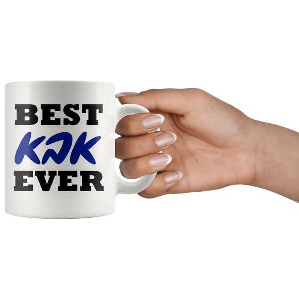 Best Father Aba Ever Mug with Hebrew