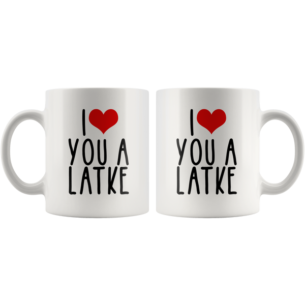 I Love Heart You a Latke Mug