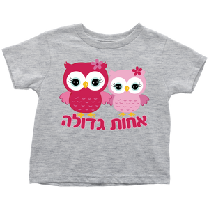 big sister hebrew t-shirt