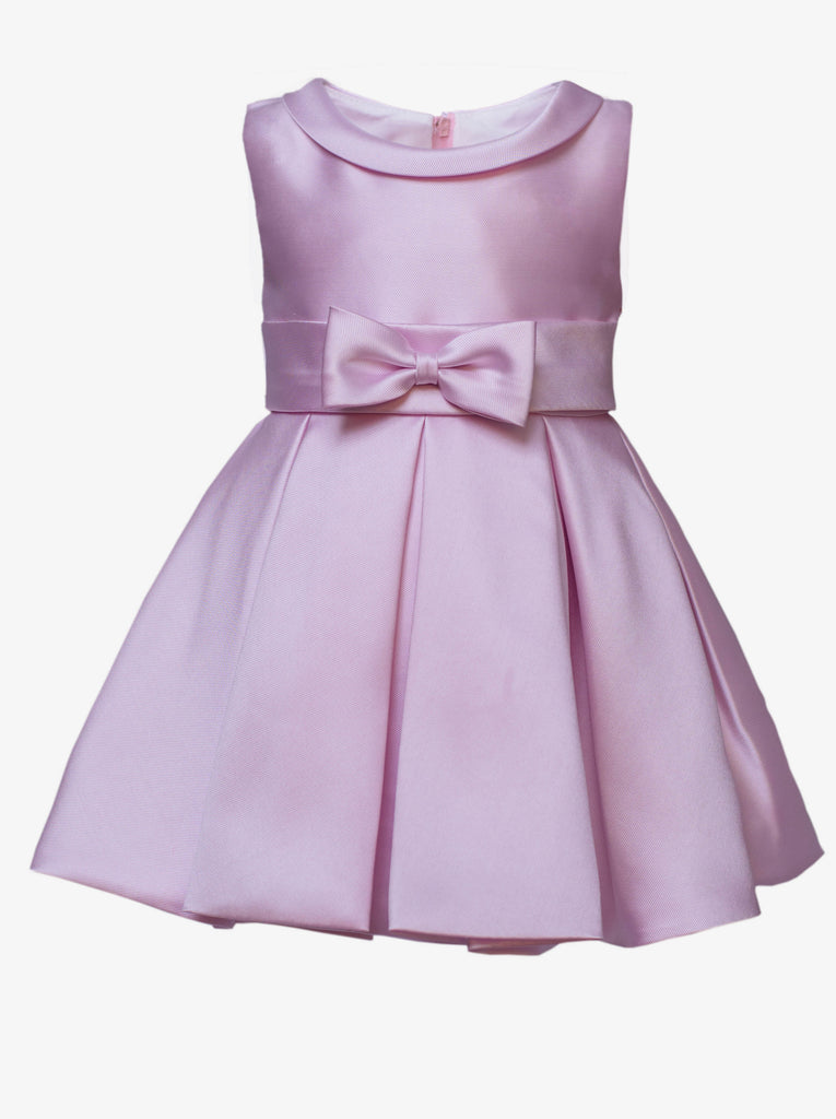 The Debutante Dress (with collar)-Blush Pink