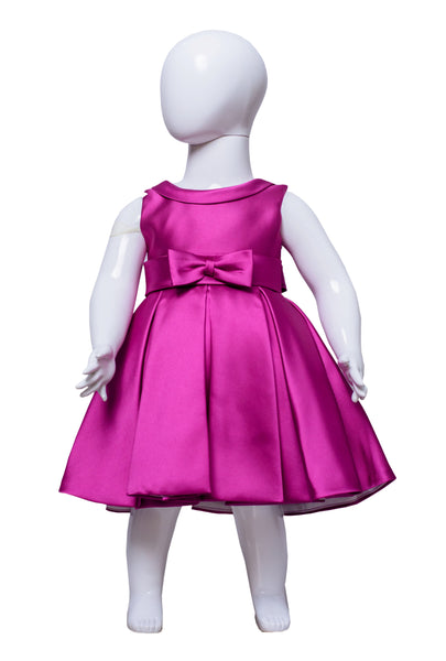 The Debutante Dress (with collar)- Fuschia