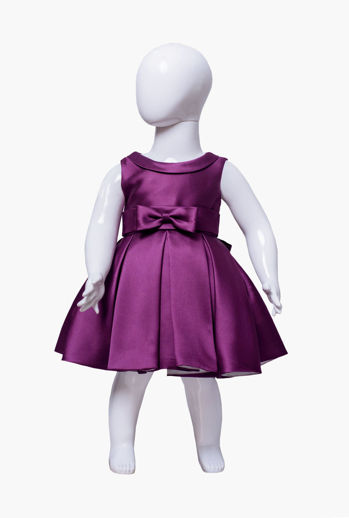 The Debutante Dress (with collar)- Eggplant Purple