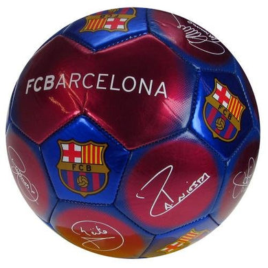FC Barcelona Signature Ball  Size 5 Football - Claret