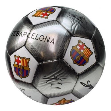 FC Barcelona Signature Ball  Size 5 Football - Silver