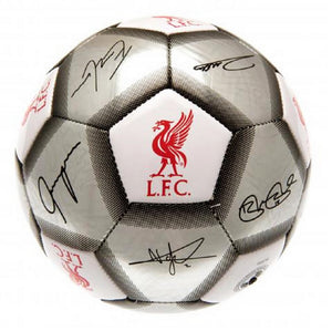 Liverpool FC Football Team Size 5 Player Signature Ball - Silver