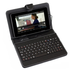"Sumvision Universal Black Keyboard Case for 7"" Tablet PC - Micro USB connection"
