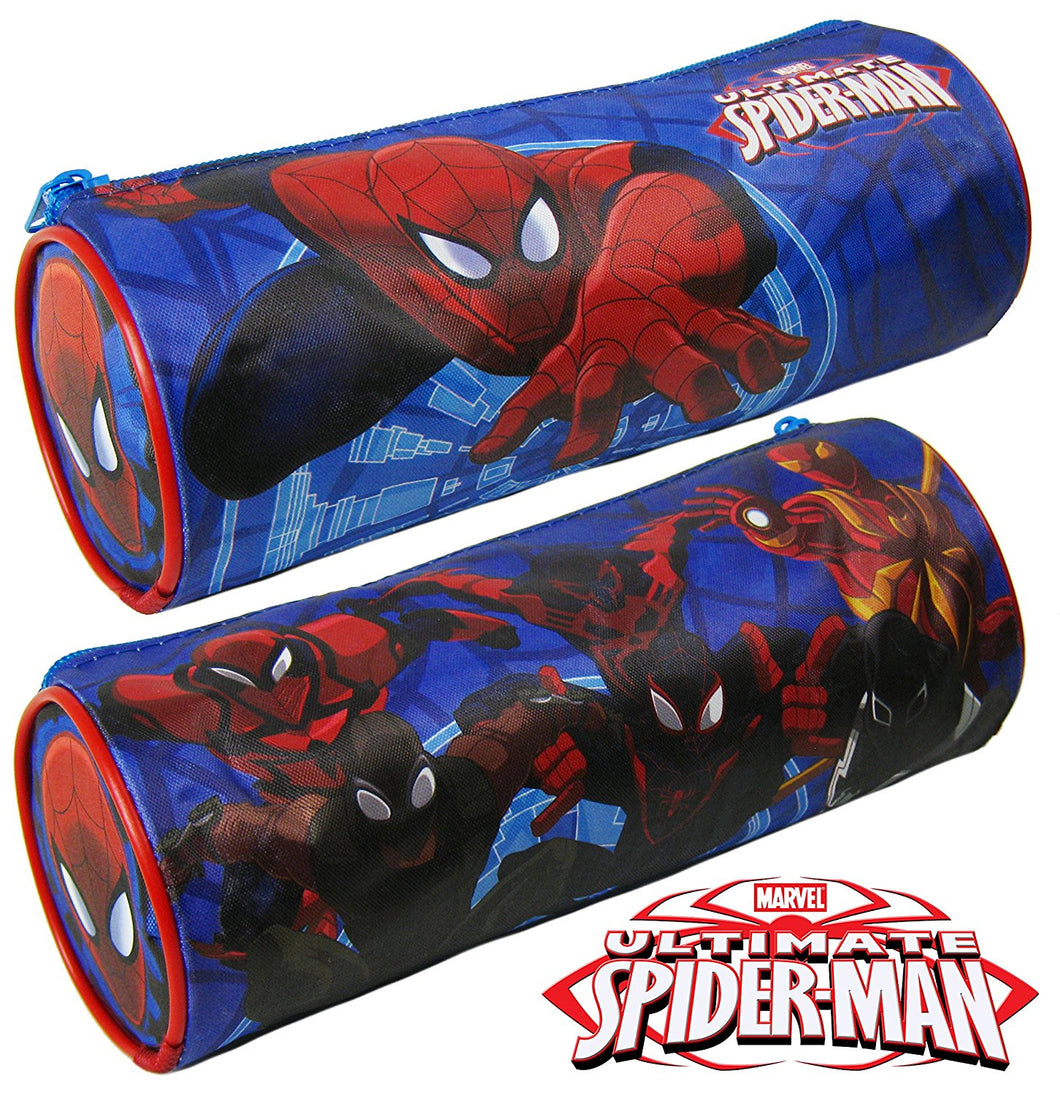 Ultimate Spiderman Round Pencil Case - Spiderman Back to School