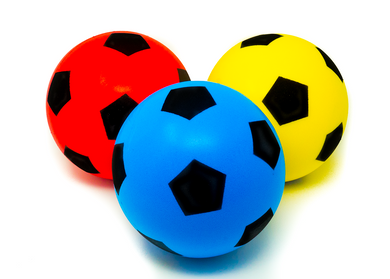 Pack of Three 20cm E-Deals Soft Foam Football