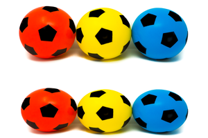 Pack of Six 20cm E-Deals Soft Foam Football