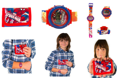 Spiderman Digital Watch and Wallet Set