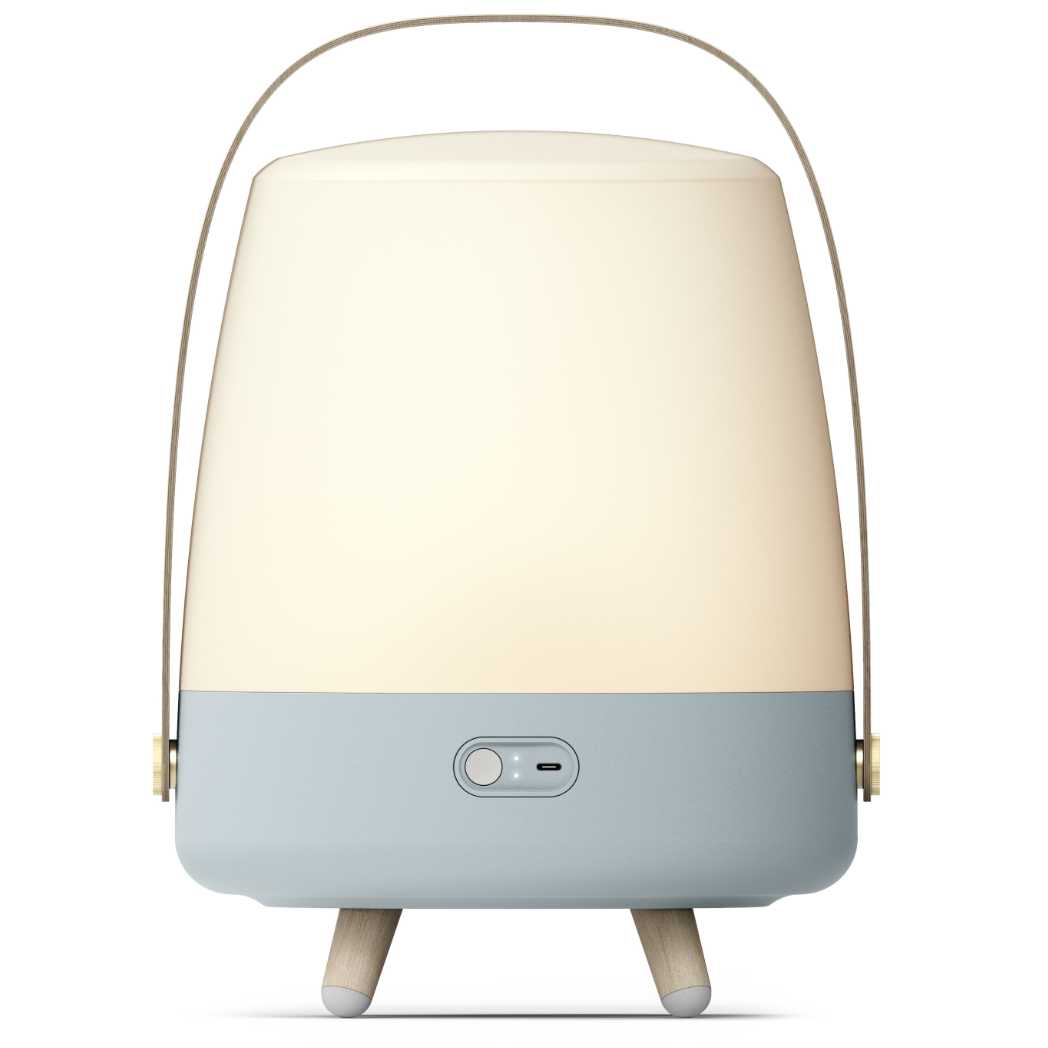 Lite-Up Play LED-lampe m/Bluetooth Højtaler Sky Blue Bagside