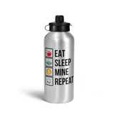 Eat Sleep Mine Repeat Water Bottle